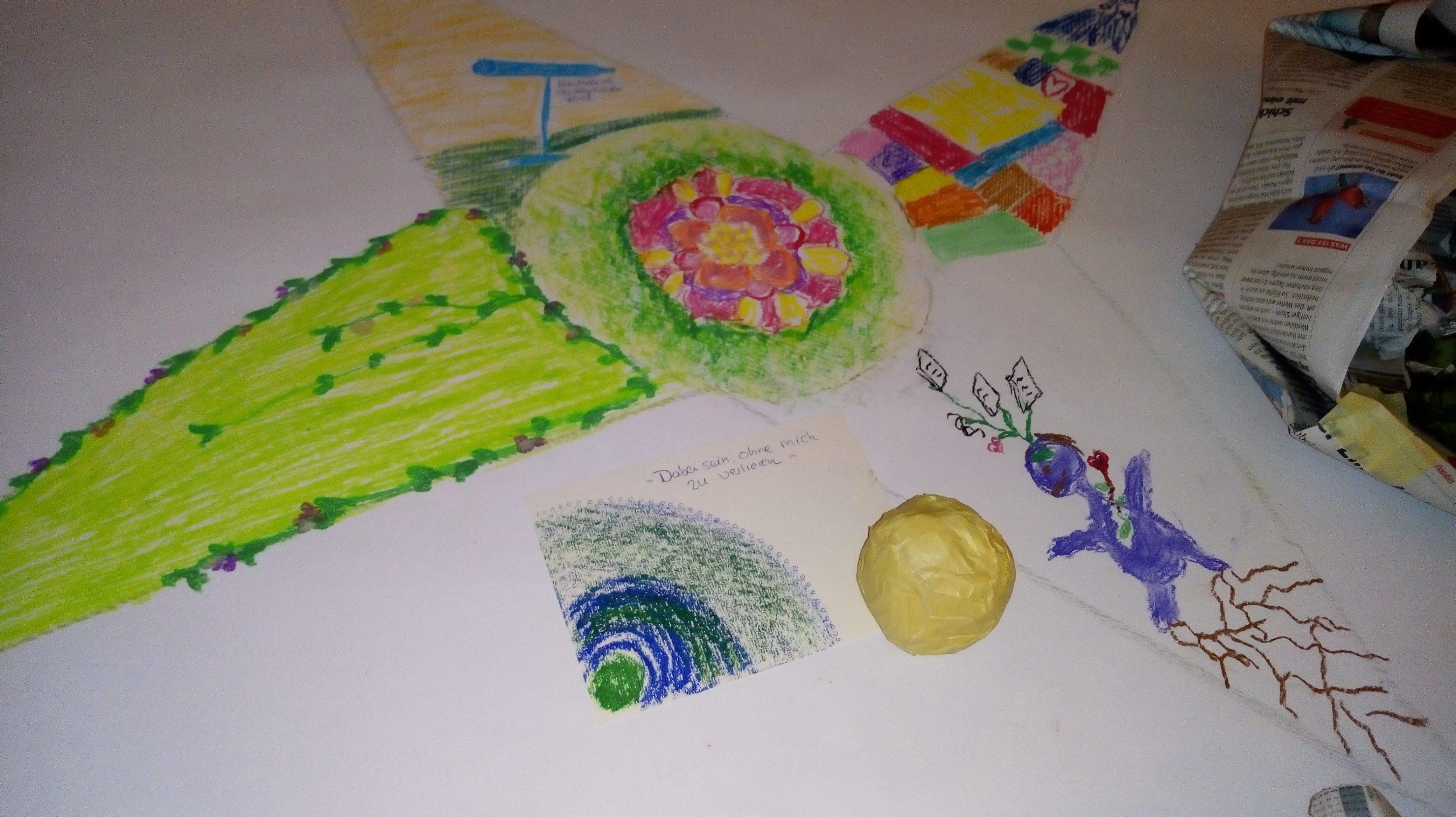So etwas kann in einer Kunsttherapie-Sitzung entstehen